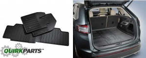 2015 2016 Ford Edge All Weather Rubber Floor Mats And Cargo Area Protector Tray