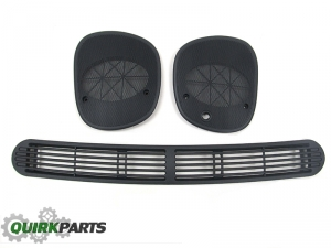 1998-2005 Chevy S-10 Blazer GMC Dash Defrost Cover & Left + Right Speaker Grilles
