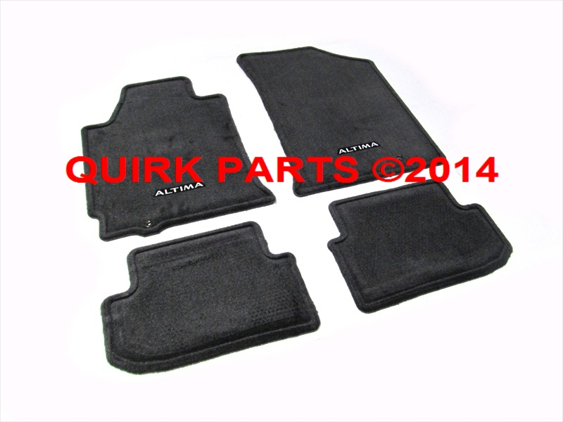 2009-2012 Nissan Altima Coupe Charcoal Carpeted Floor Mats Front & Rear OEM NEW - Nissan (999E2-UUC10BK) | QuickParts