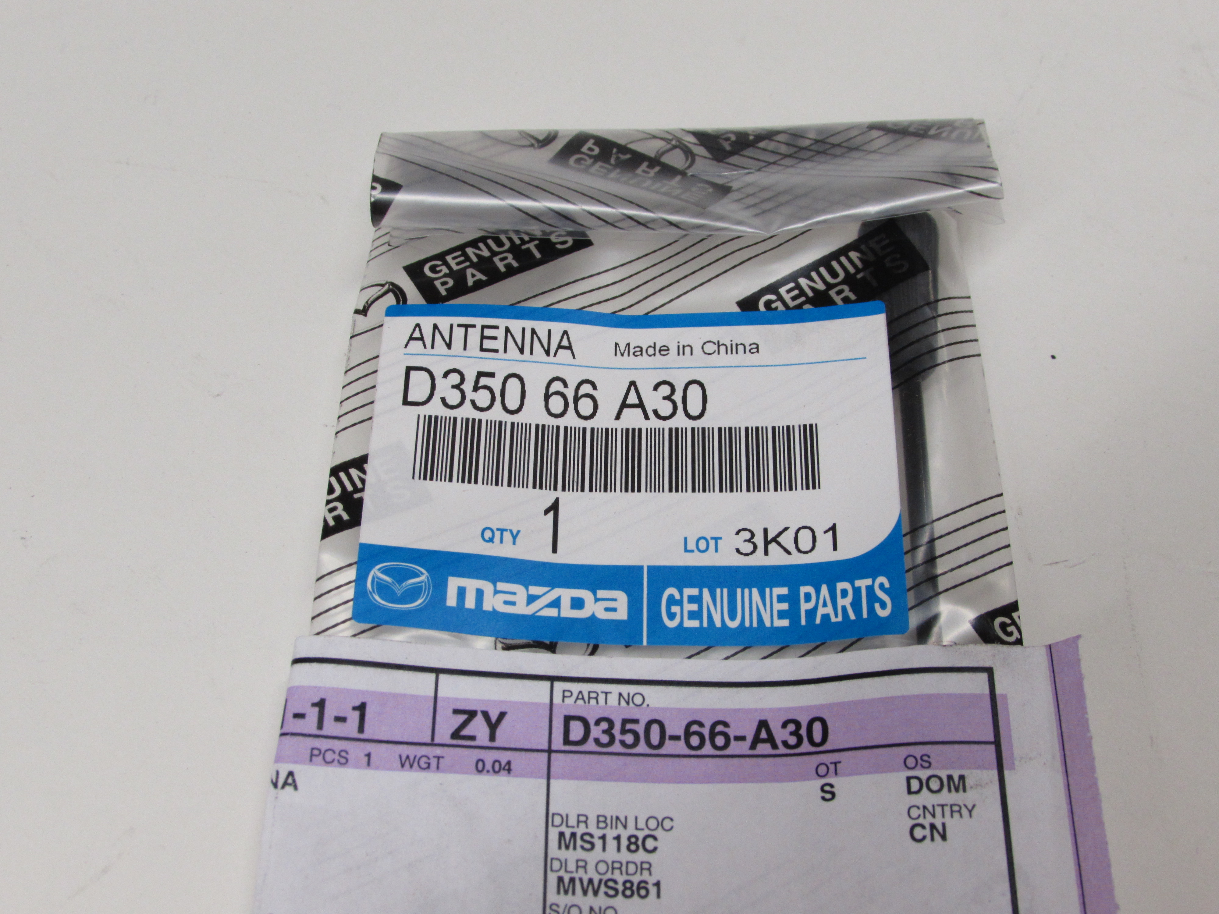 2011 2014 Mazda 2 Roof Aerial Radio Antenna Rod Mast Oem New Genuine Chrysler Wiring Harness D350 66 A30 Quirk Parts