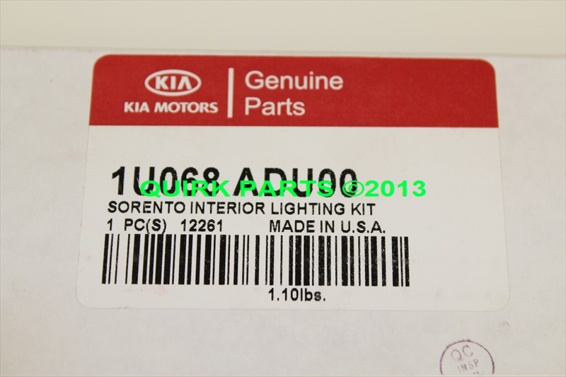 2009-2013 Kia Sorento Interior Lighting Kit OEM BRAND NEW Part # 1U068-ADU00