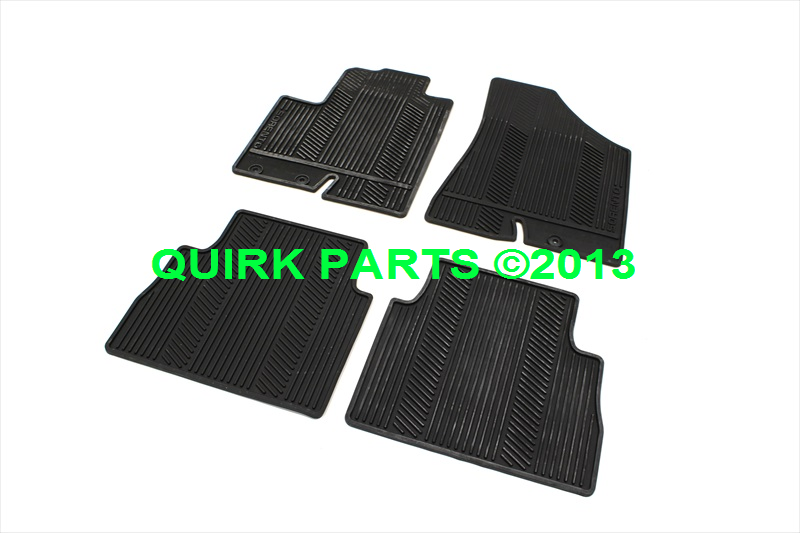 2009-2013 Kia Sorento Front & Rear Black Rubber Floor Mats OEM NEW 1UF13-AC000