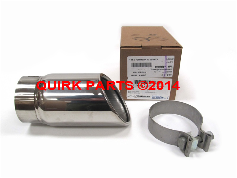 2007-2013 Cadillac/Chevy/GMC Chrome Exhaust Tip Genuine OEM NEW 22799816