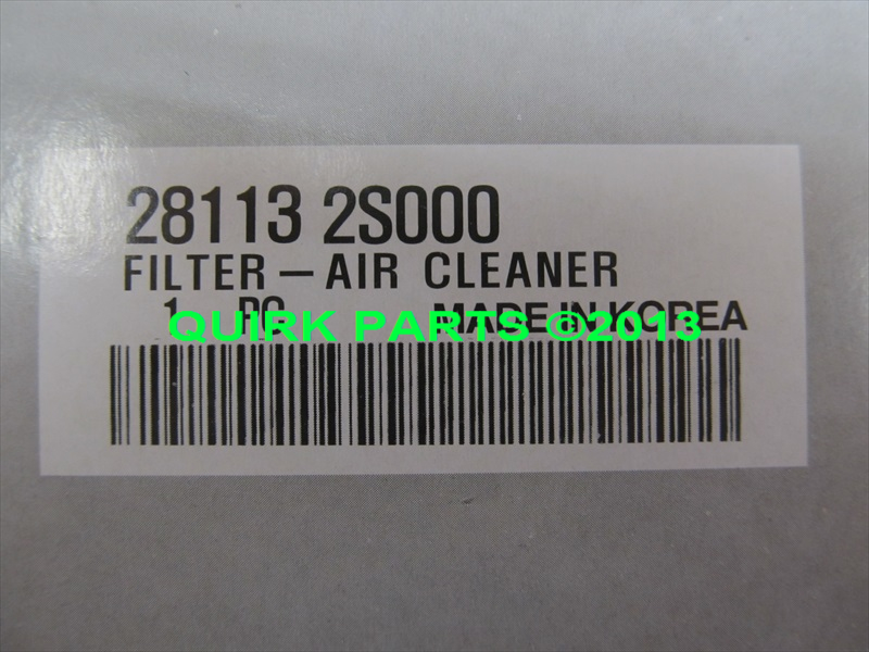 2010-2013 Kia Sportage Air Filter OEM BRAND NEW Genuine Part # 28113-2S000