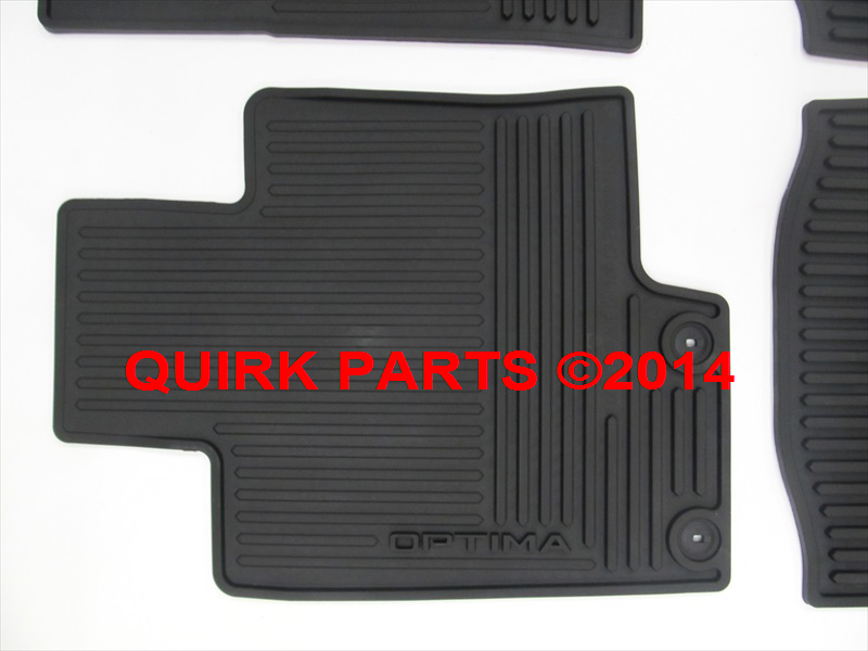 2014 Kia Optima All Weather Floor Mats Genuine OEM NEW Part # 2T013-ADU10