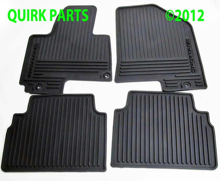 2010-2013 Kia Sportage Front and Rear Premium All Weather  Floor Mats OEM NEW