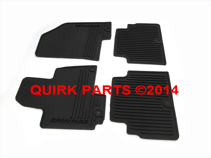 2014 Kia Sportage All Weather Rubber Floor Mats Genuine OEM NEW 3W013-ADU10