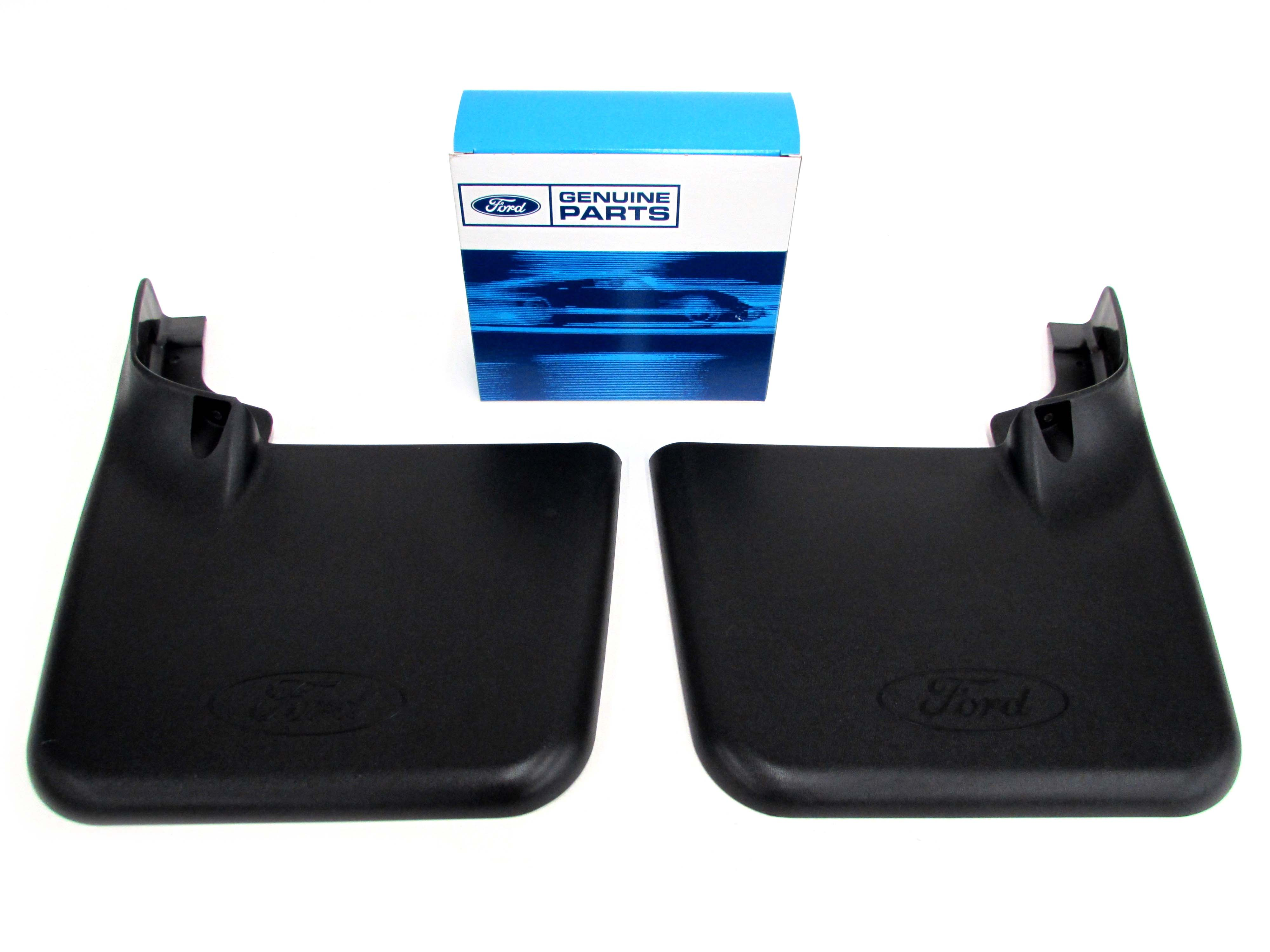 2004-2014 Ford F-150 Styleside Rear Splash Guards Mud Flaps Molded Black OEM NEW