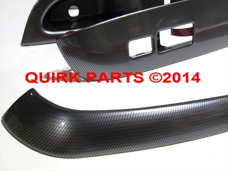 2014 Nissan Versa Note SV Carbon Fiber SILVER Switch Bezel Trim Appliques OE NEW
