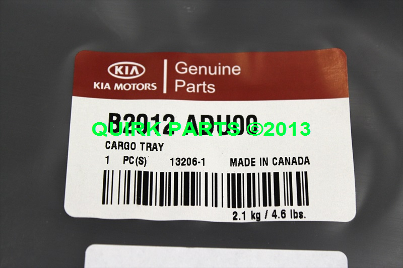 2014 Kia Soul Cargo Tray OEM BRAND NEW Genuine Part # B2012-ADU00