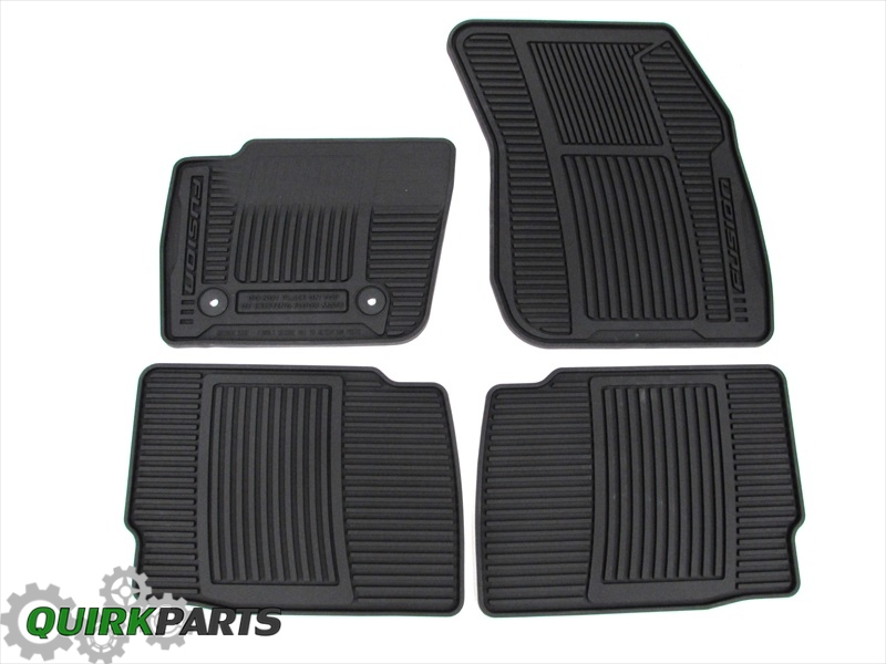 2013-2015 Ford Fusion All Weather Rubber Vinyl Black Floor Mats Set of 4 OEM NEW