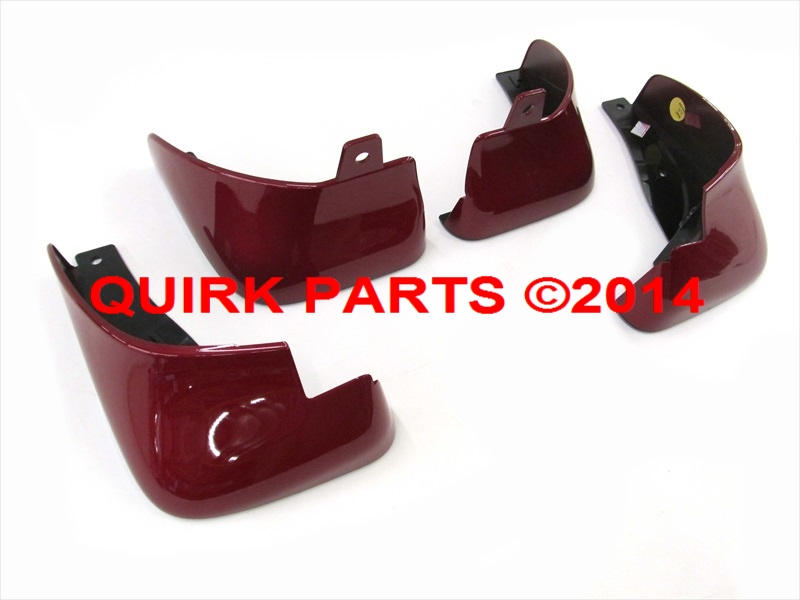 2012 Nissan Versa Front & Rear Red Brick Mud Flap Splash Guard 4 pc Set OEM NEW