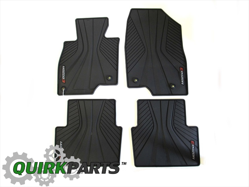2014 Mazda3 Premium All Weather Floor Mats OEM BRAND NEW Genuine 0000-8B-L82