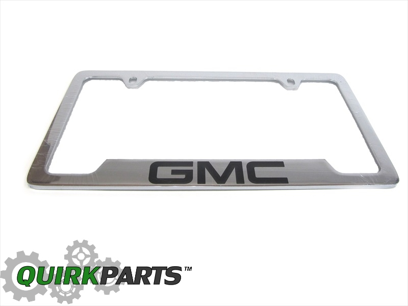 License Plate Frame, Chrome, Gmc - GM (19330369)   Quirk Parts
