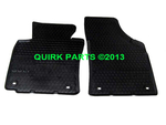 06-10 VW Volkswagen GTI MK5 FRONT Euro Rubber Floor Mats Oval Retention Clip OEM