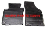 2006-2012 VW EOS European-Style All Season Front Floor Mats Set of 2 Round Clips