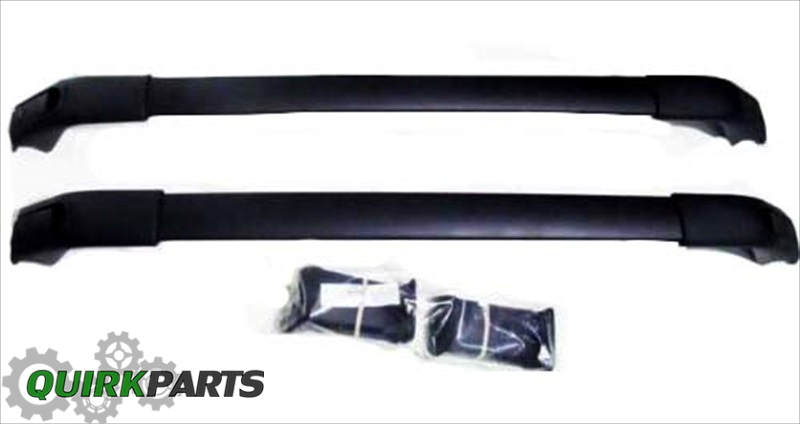 2011-2012 Kia Sorento w Sunroof Roof Rack Cross Bars Black GENUINE OEM BRAND NEW
