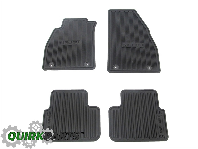 Chevy Malibu Set of 4 All Weather Floor Mats OEM NEW Genuine