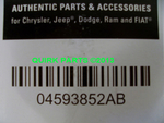 Dodge Ram 1500 Caravan ChryslerTown & Country 5.7L Hemi Serpentine Belt OEM