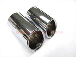2015 VW Volkswagen Golf MK7 Stainless Steel Polished Metal Exhaust Tips OEM NEW
