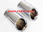 2011-2014 VW Volkswagen Jetta MK6 Stainless Steel Exhaust Tips GENUINE OEM NEW