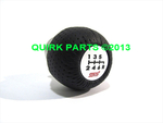 Subaru STI Leather and Aluminum Shift Knob 6-Speed OEM NEW