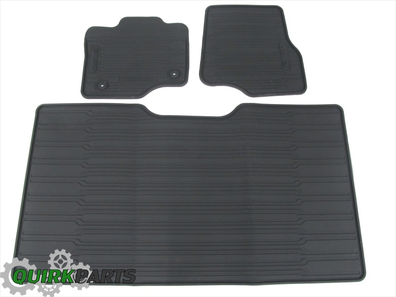 2015 Ford F-150 SuperCrew Cab All Weather Rubber Floor Mats Black OEM NEW