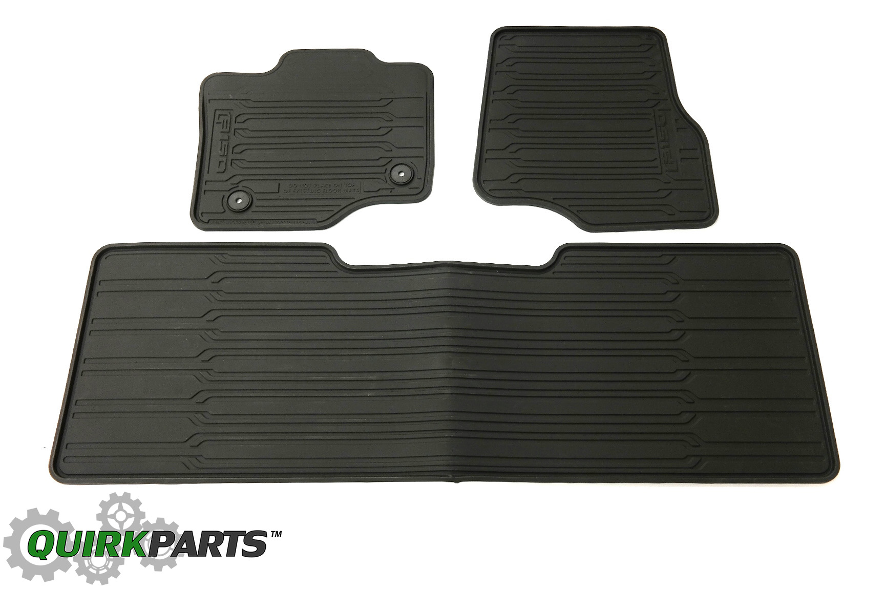 2015 Ford F-150 Extended Super Cab All Weather Rubber Floor Mats Black OEM