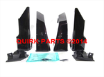 2012-2014 Subaru Impreza 5-D Sport Splash Guard Set Deep Cherry Pearl OEM NEW