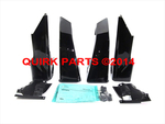 2012-2014 Subaru Impreza 5-D Splash Guard Mud Flap Crystal Black Silica OEM NEW