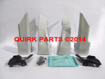 2012-2014 Subaru Impreza 5-D Splash Guard Mud Flap Set Satin White Pearl OEM NEW