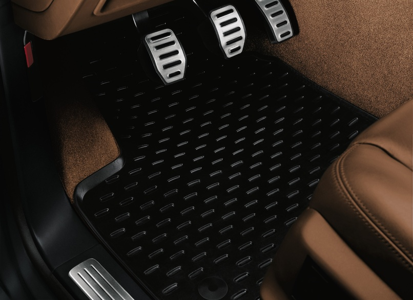 Rubber Floor Mats - Black