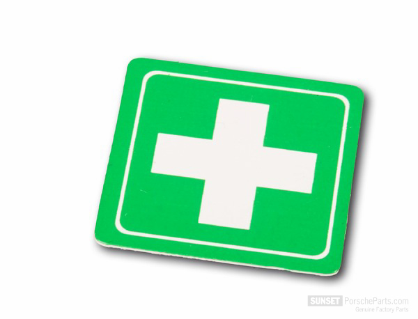 Sticker, first-aid kit for Porsche 996