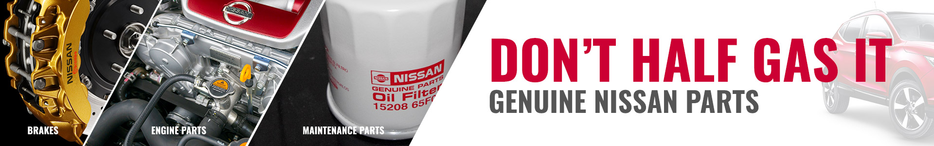 Genuine Nissan maintenance parts
