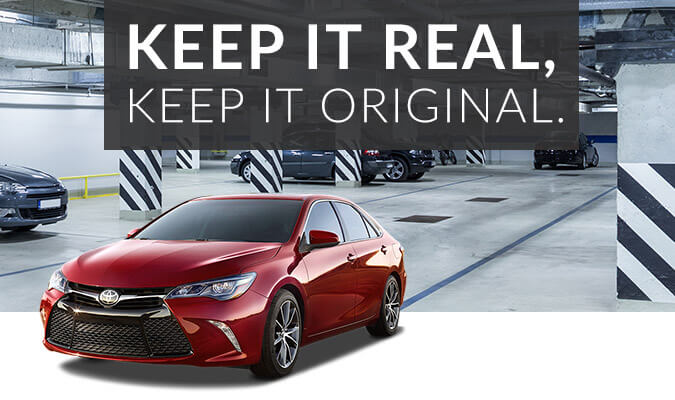 Keep it real, keep it original - Toyota OEM parts