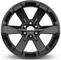 "22"" Wheel, 6-Spoke, High Gloss Black (PRICED INDIVIDUALLY)"