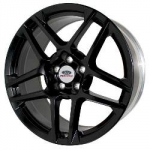 WHEEL SPLIT 5-SPOKE SATIN BLACK MSVT 2013