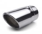 Factory Chrome Exhaust Tip DUAL WALL, ANGLE CUT