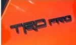 TRD PRO BADGE - BLACK