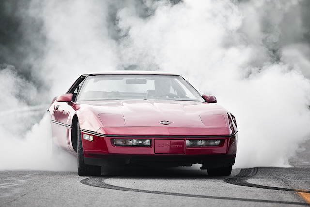 Corvette burnout 1