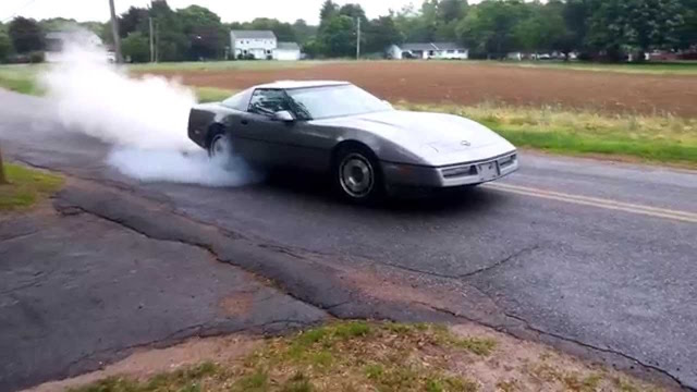 Corvette burnout 10