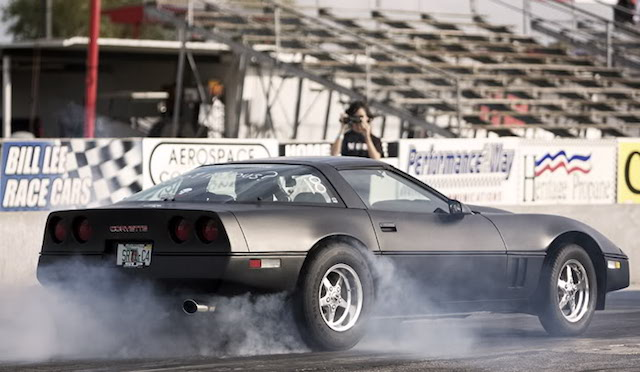 Corvette burnout 14