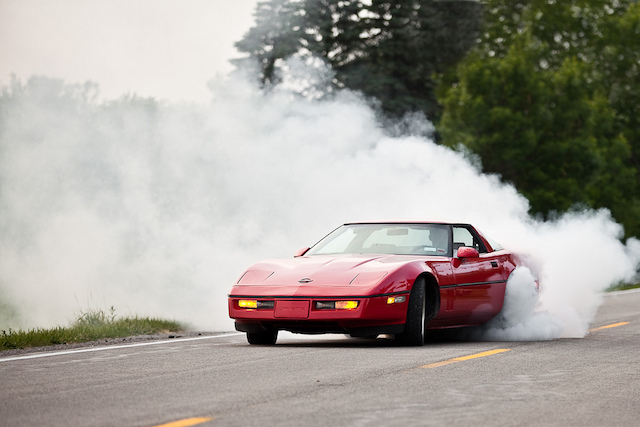 Corvette burnout 15