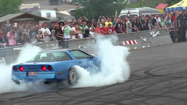 Corvette burnout 2