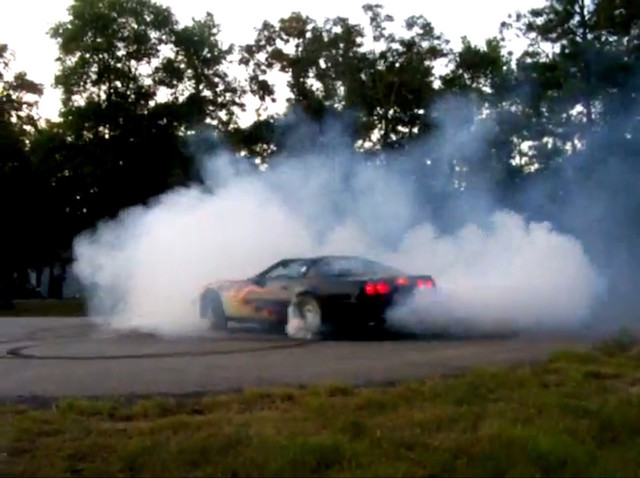 Corvette burnout 3