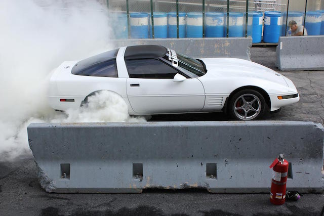 Corvette burnout 4