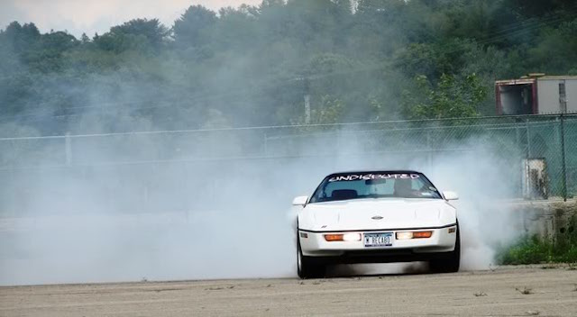 Corvette burnout 5