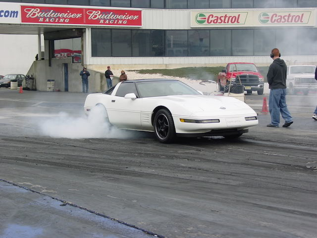 Corvette burnout 6