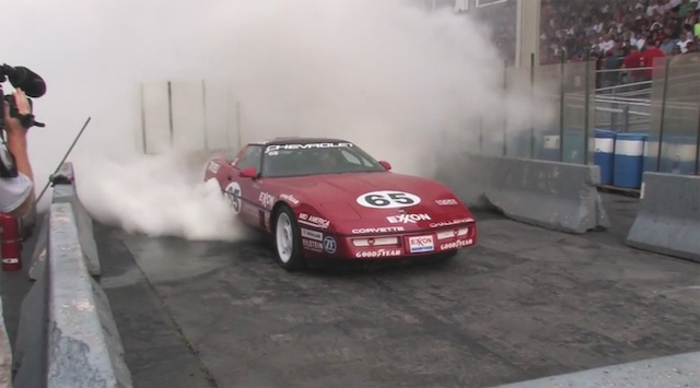 Corvette burnout 7