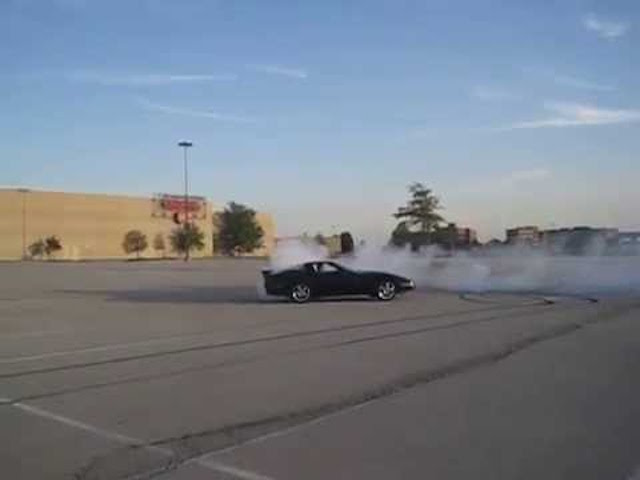 Corvette burnout 9